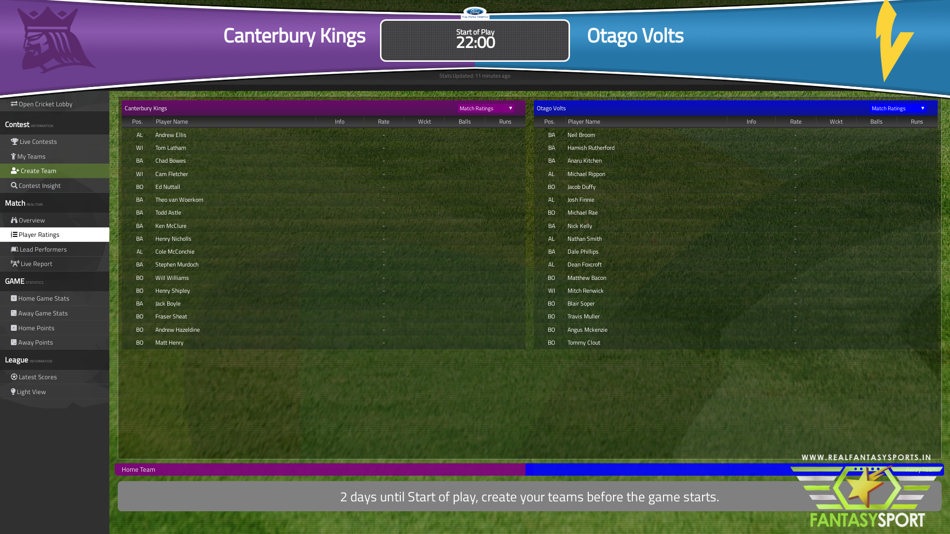 Cricket Match Prediction Canterbury Kings Vs Otago Volts 12th February 2020