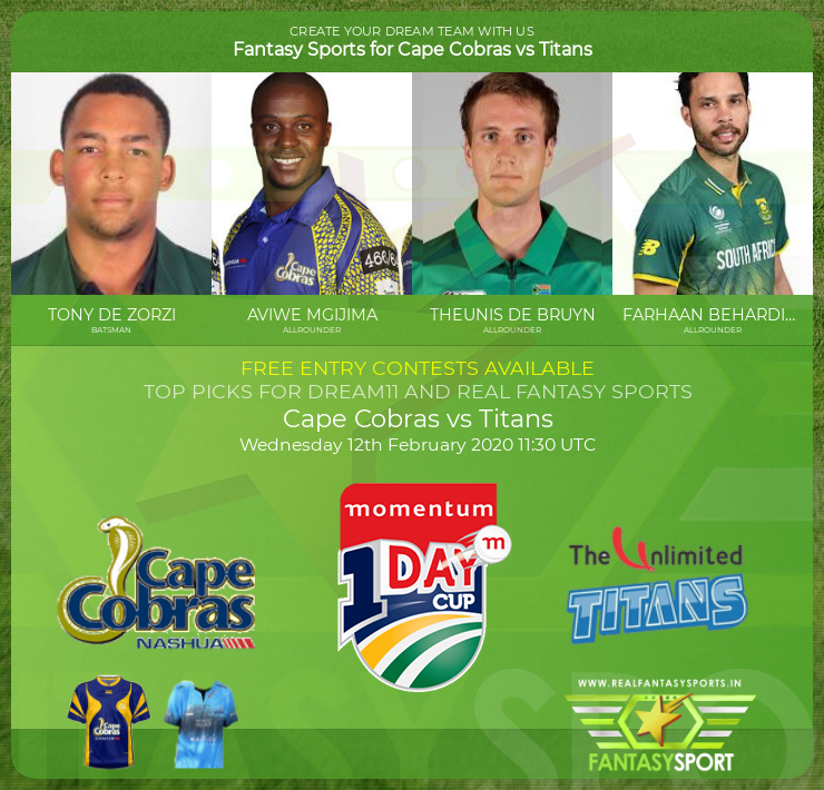 Recommended Players Cape Cobras Vs Titans