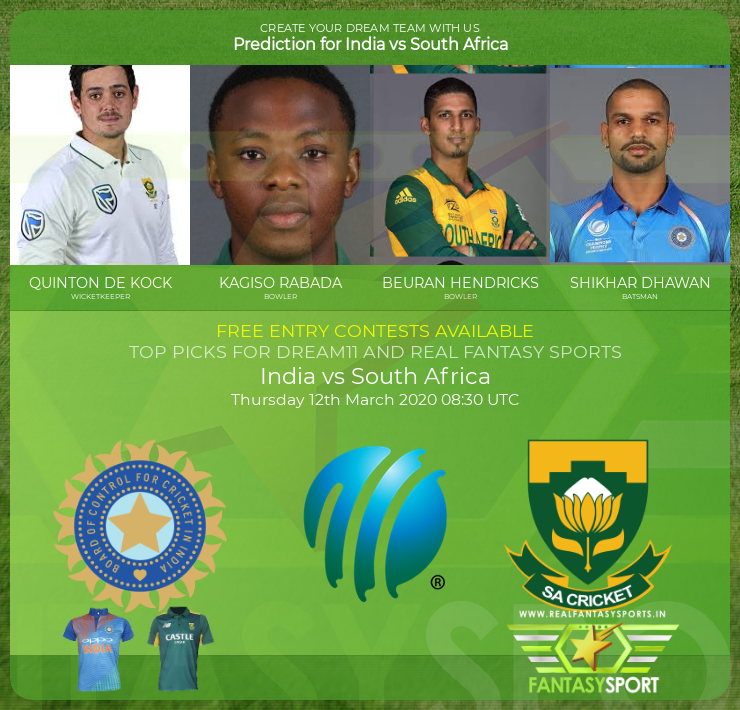 Top Players India Vs South Africa