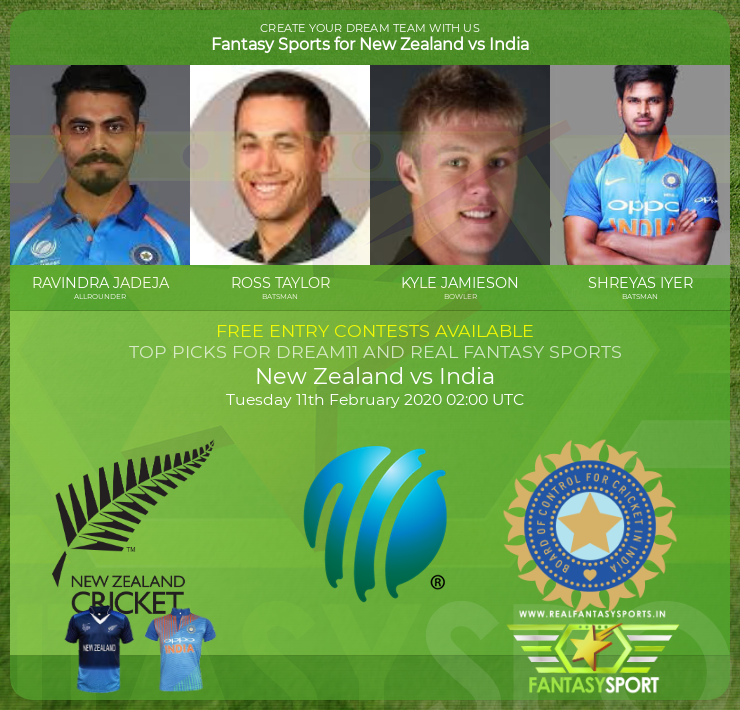 Top Players New Zealand Vs India