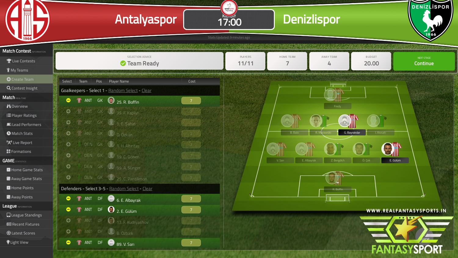 Antalyaspor vs Denizlispor game prediction (28th September 2020)