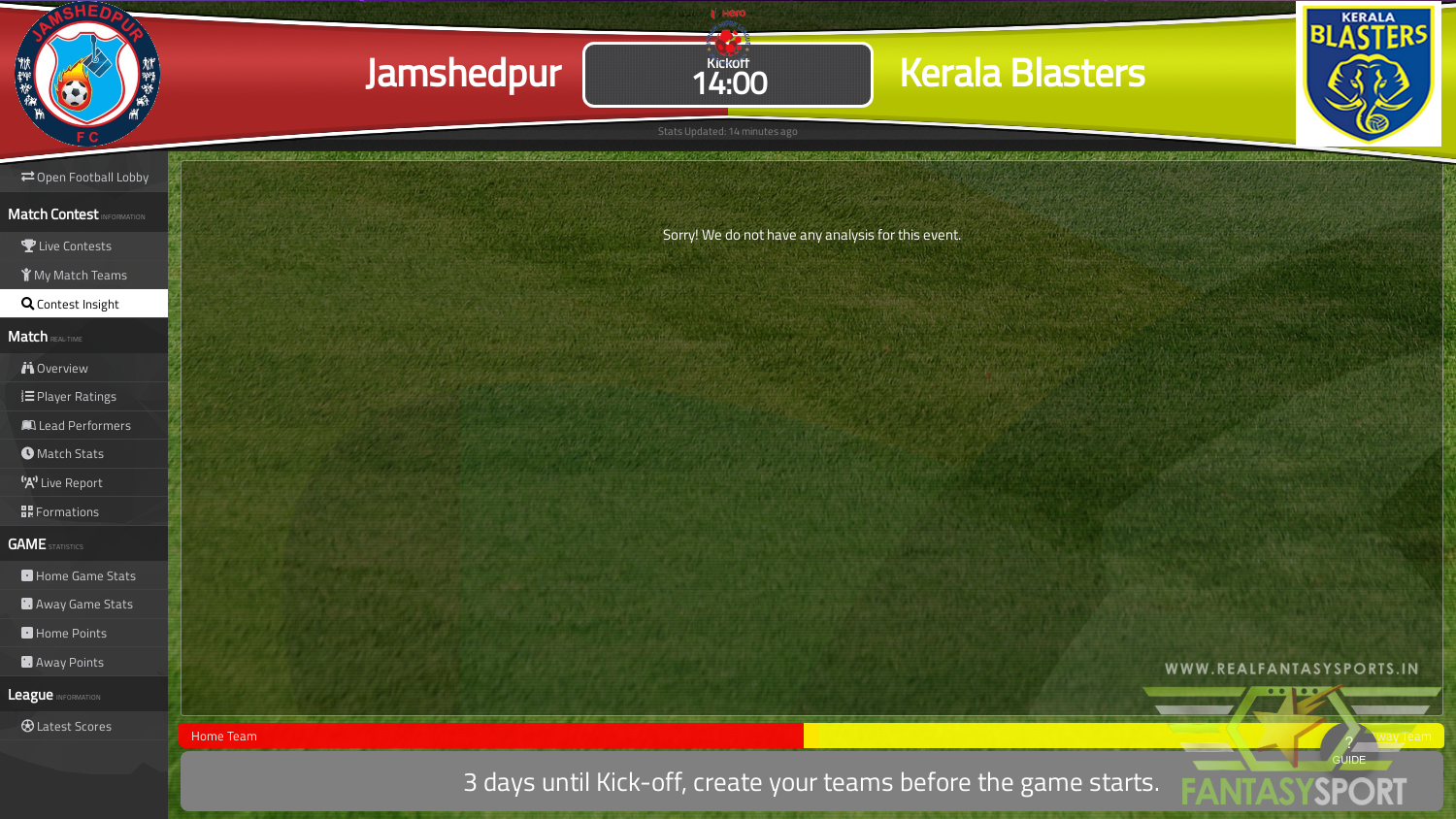 Dream Team Pick For Jamshedpur Vs Kerala Blasters