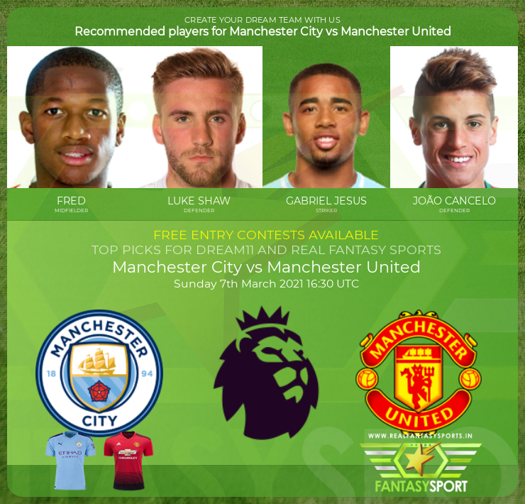 Manchester City vs Manchester United match prediction (7th March 2021)