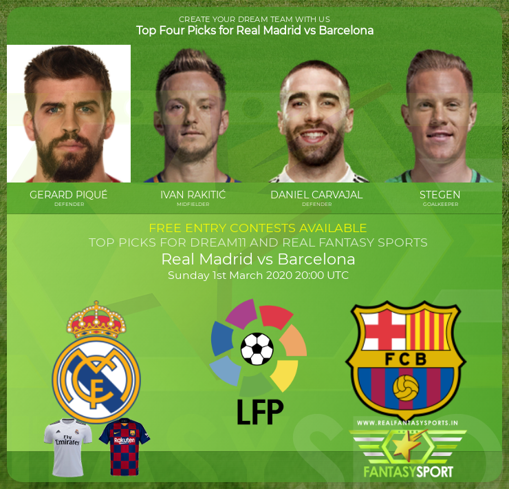 Real Madrid vs Barcelona football prediction (1st March 2020)