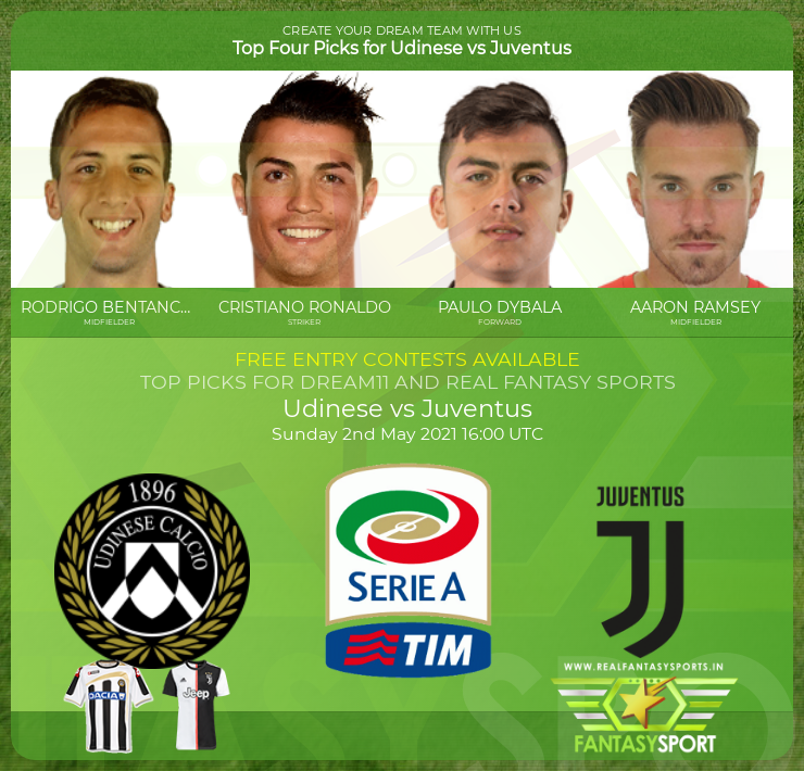 Dream11 Udinese Vs Juventus