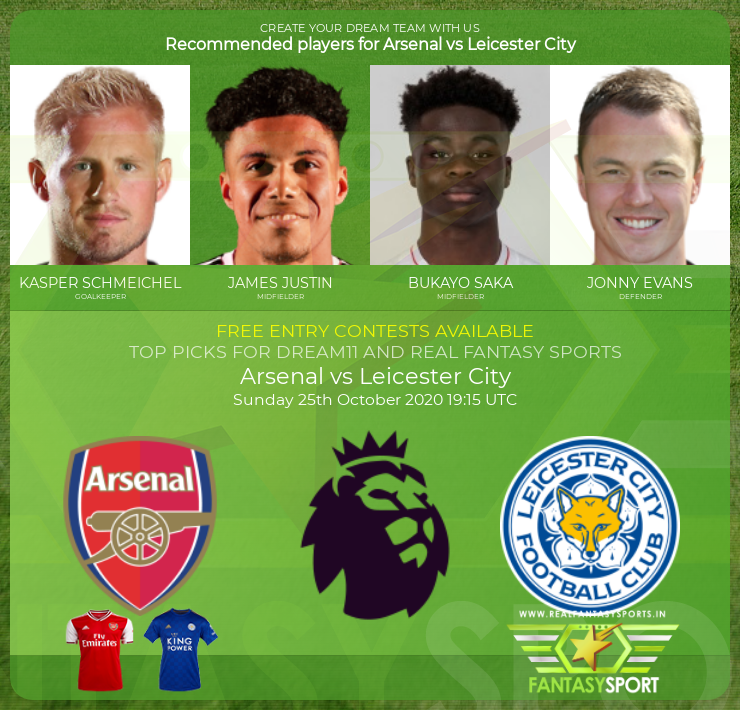 Arsenal vs Leicester City game prediction (25th October 2020)