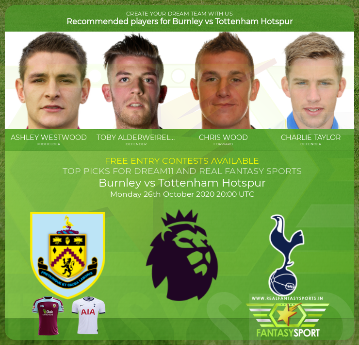 Burnley vs Tottenham Hotspur prediction (26th October 2020)