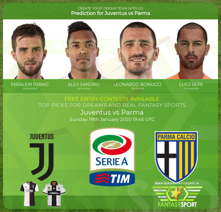 Juventus vs Parma game prediction (19th January 2020)