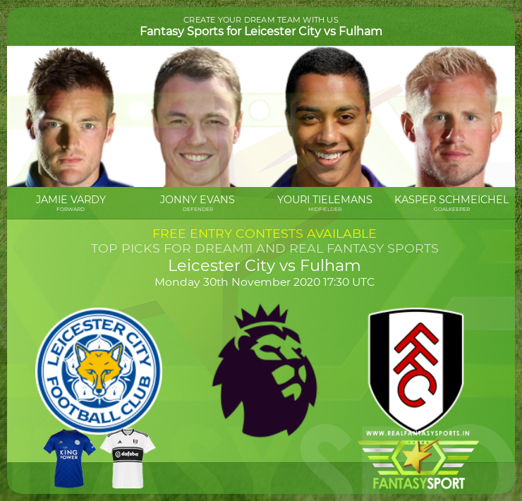 Leicester City vs Fulham dream team prediction (30th November 2020)