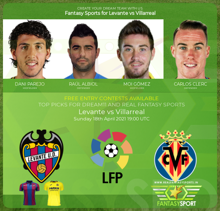 Levante vs Villarreal dream11 team prediction (18th April 2021)
