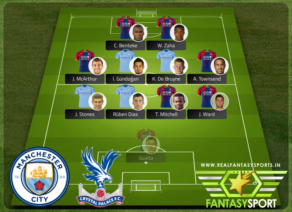 Fantasy Team Manchester City Vs Crystal Palace