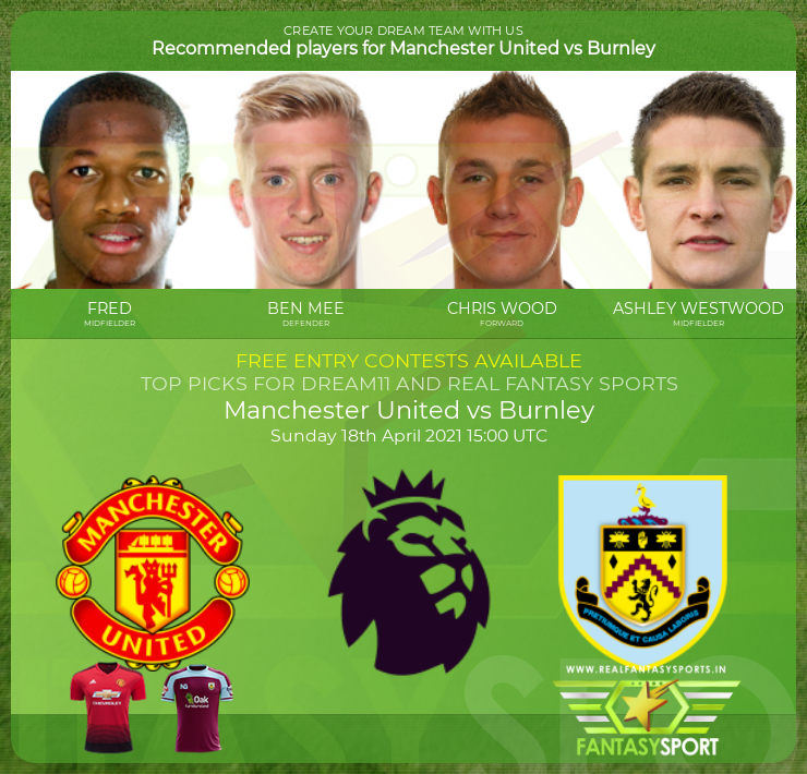 Manchester United vs Burnley football prediction (18th April 2021)