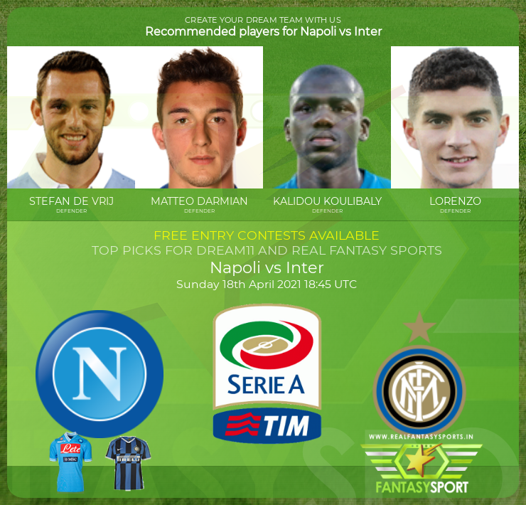 Fantasy Team Napoli Vs Inter