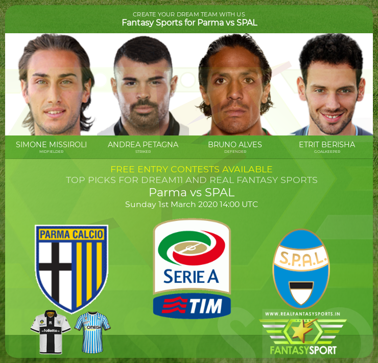 Parma vs SPAL dream11 prediction (1st March 2020)