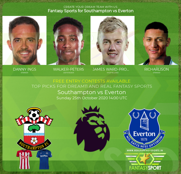 Southampton vs Everton game prediction (25th October 2020)