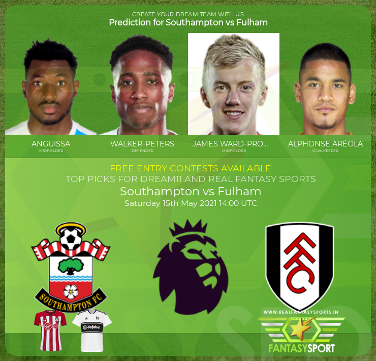 Southampton vs Fulham football prediction (15th May 2021)