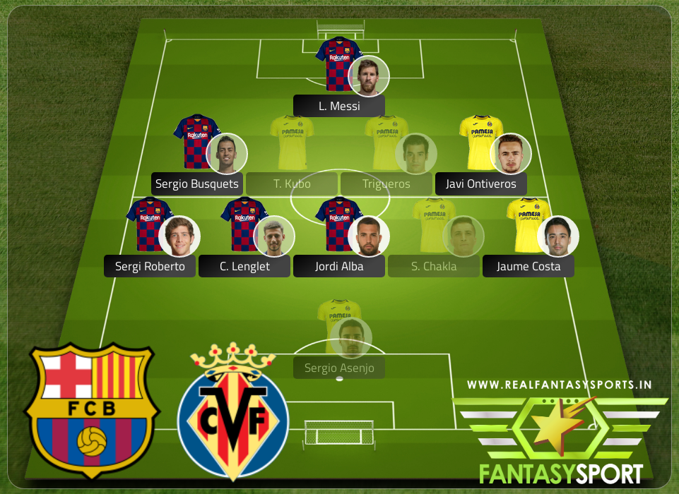 Football Fantasy Team Barcelona Vs Villarreal
