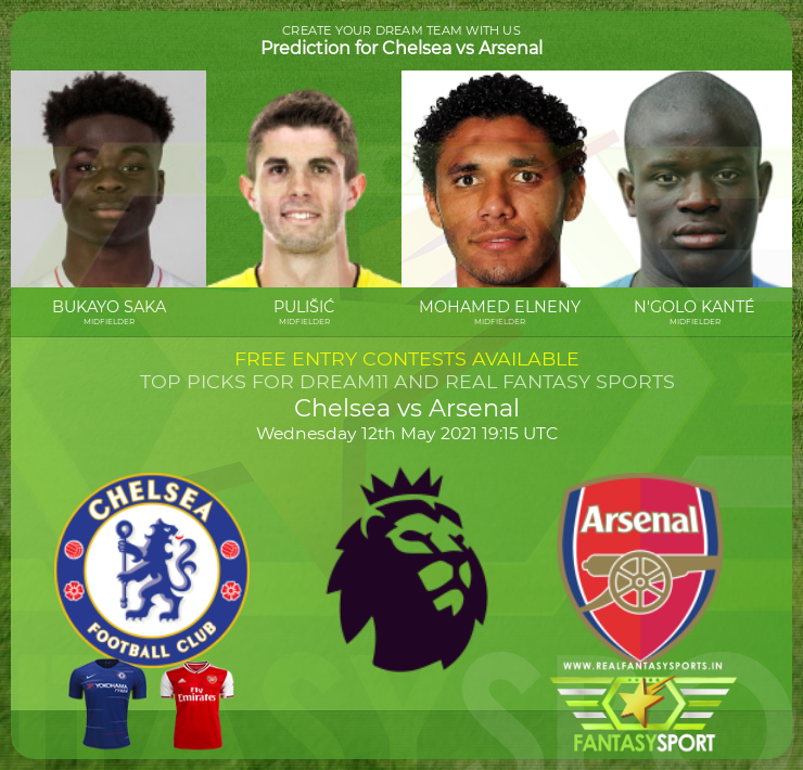 Chelsea vs Arsenal football prediction (12th May 2021)