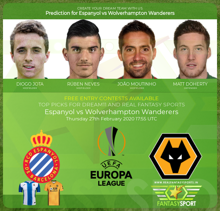 Espanyol vs Wolverhampton Wanderers football prediction (27th February 2020)