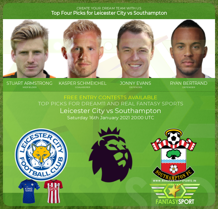 Leicester City vs Southampton dream11 prediction (16th January 2021)