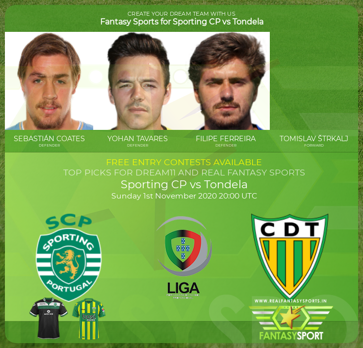 Sporting CP vs Tondela match prediction (1st November 2020)
