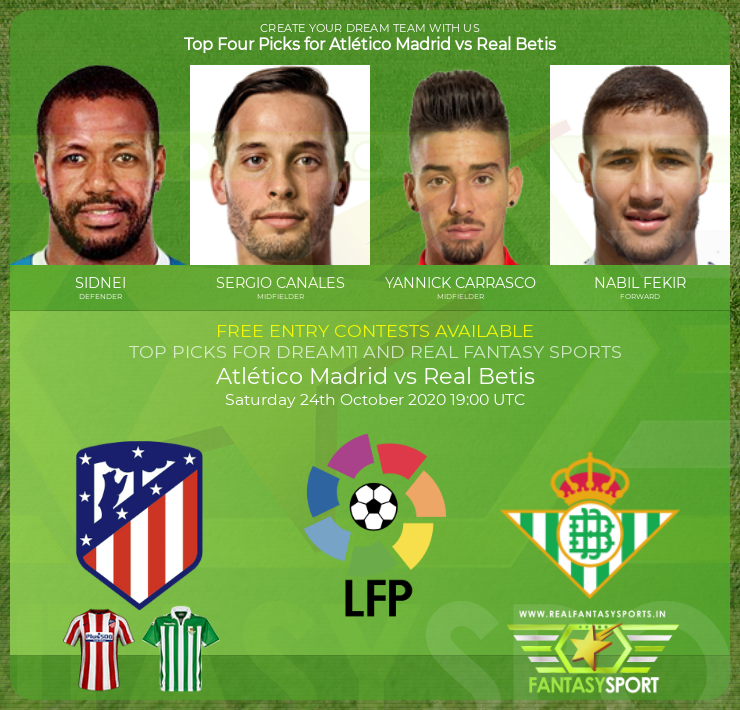 Atlético Madrid vs Real Betis match prediction (24th October 2020)