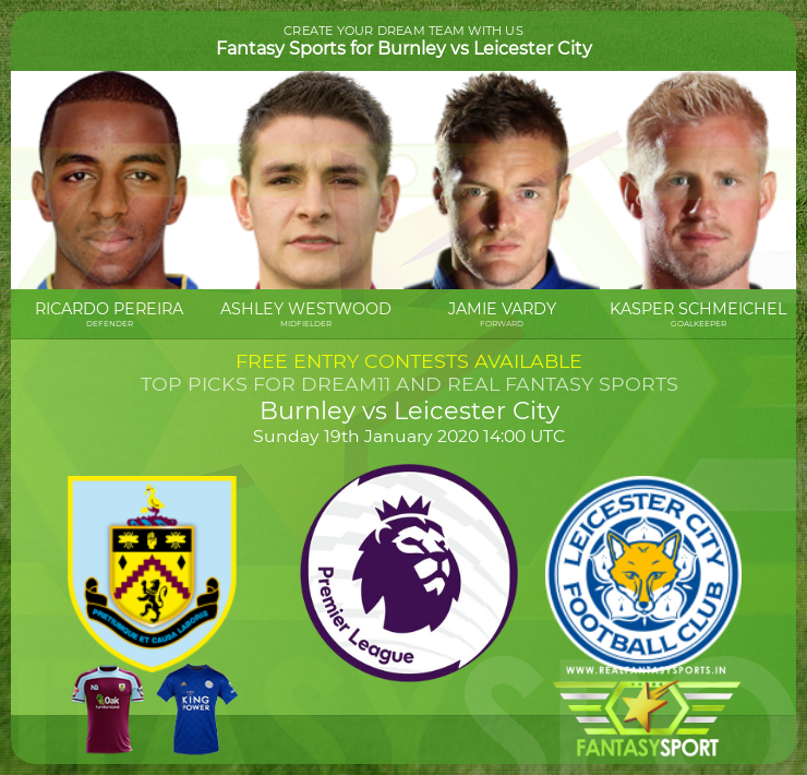 Burnley vs Leicester City dream team prediction (19th January 2020)