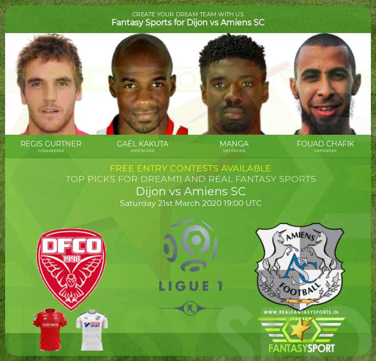 Recommended Players Dijon Vs Amiens Sc