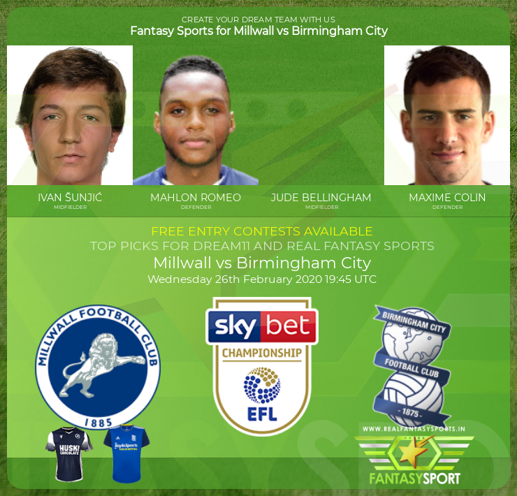 Millwall vs Birmingham City game prediction (26th February 2020)