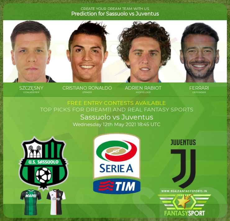 Sassuolo vs Juventus football prediction (12th May 2021)