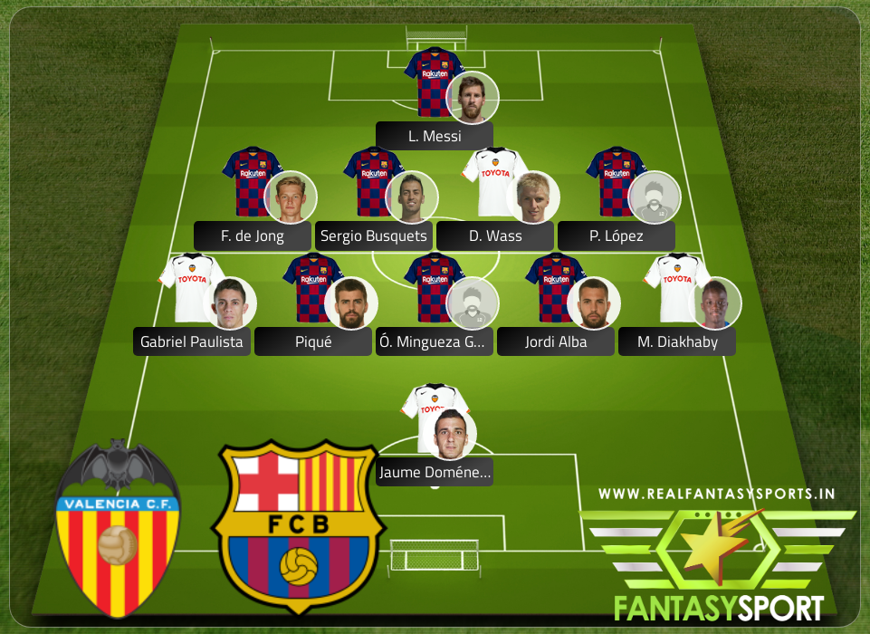 Recommended Players Valencia Vs Barcelona