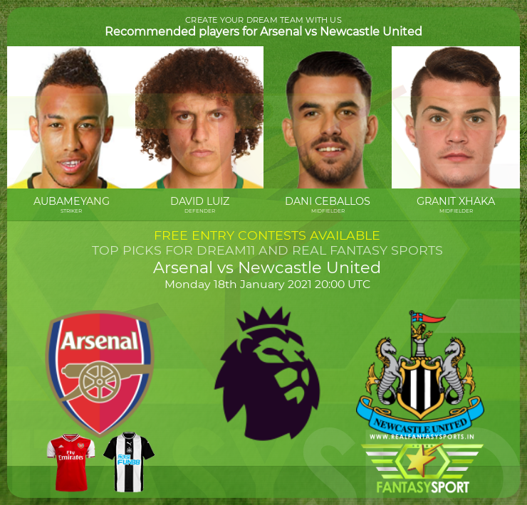 Arsenal vs Newcastle United prediction (18th January 2021)
