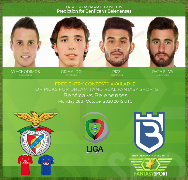 Benfica vs Belenenses football prediction (26th October 2020)