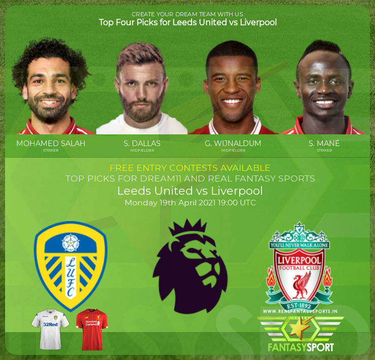 Leeds United vs Liverpool football prediction (19th April 2021)