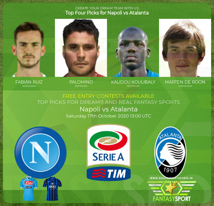 Top 11 Pick Napoli Vs Atalanta