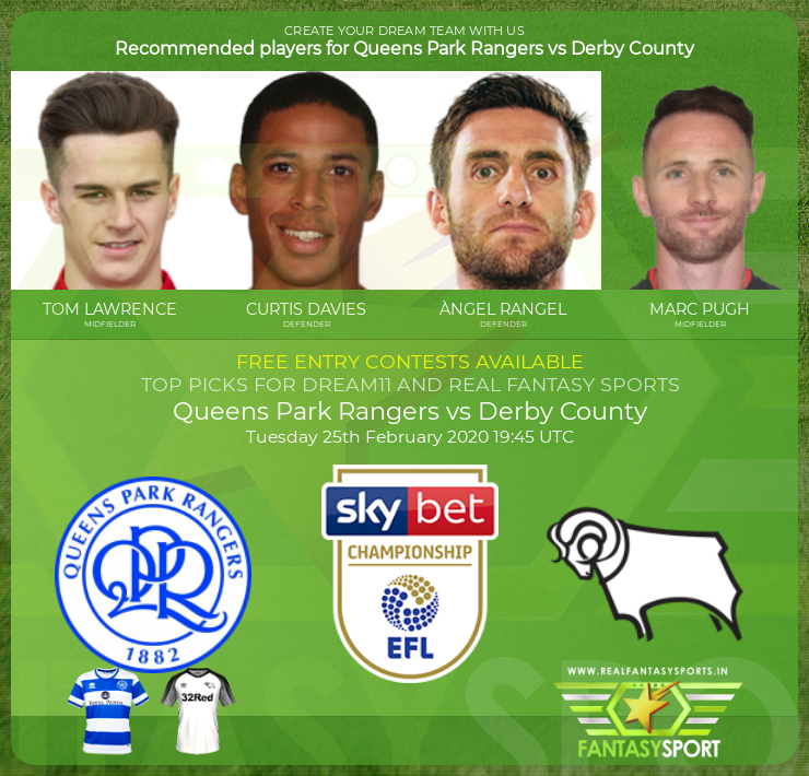 Queens Park Rangers vs Derby County match prediction (25th February 2020)