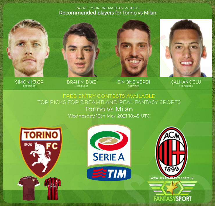 Torino vs Milan dream11 prediction (12th May 2021)