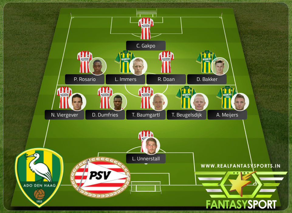 Top Players Ado Den Haag Vs Psv