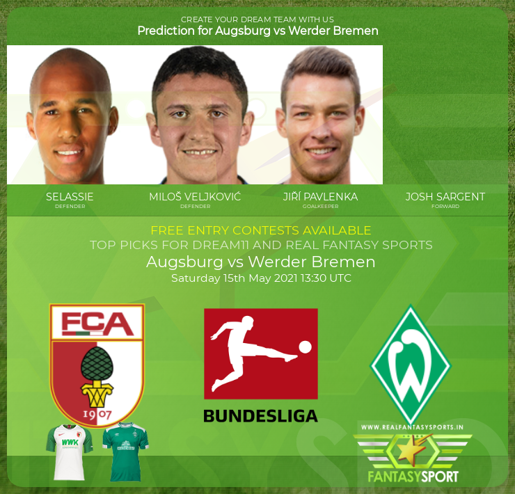 Augsburg vs Werder Bremen game prediction (15th May 2021)