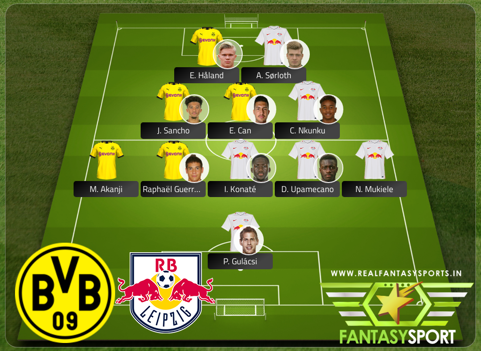 Top Players Borussia Dortmund Vs Rb Leipzig
