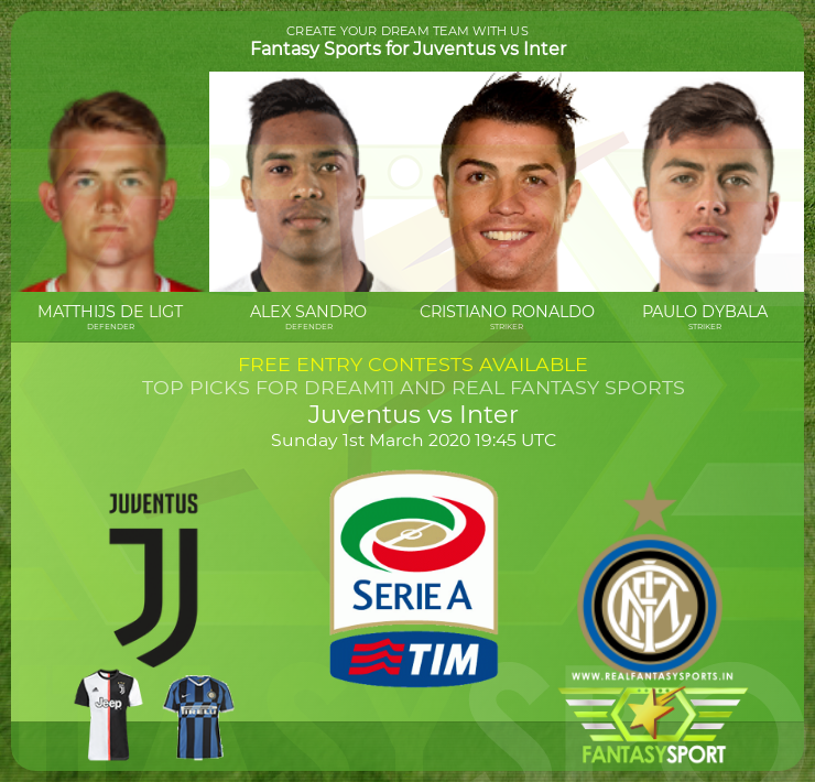 Juventus vs Inter game prediction (1st March 2020)