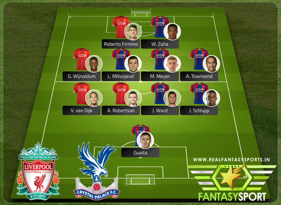 Top Players Liverpool Vs Crystal Palace
