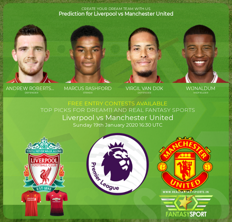 Liverpool vs Manchester United match preview (19th January 2020)
