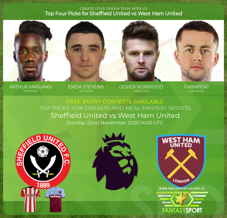 Top Players Sheffield United Vs West Ham United