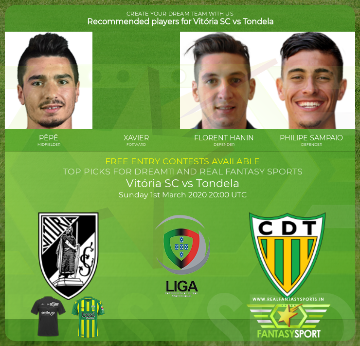 Vitória SC vs Tondela game prediction (1st March 2020)