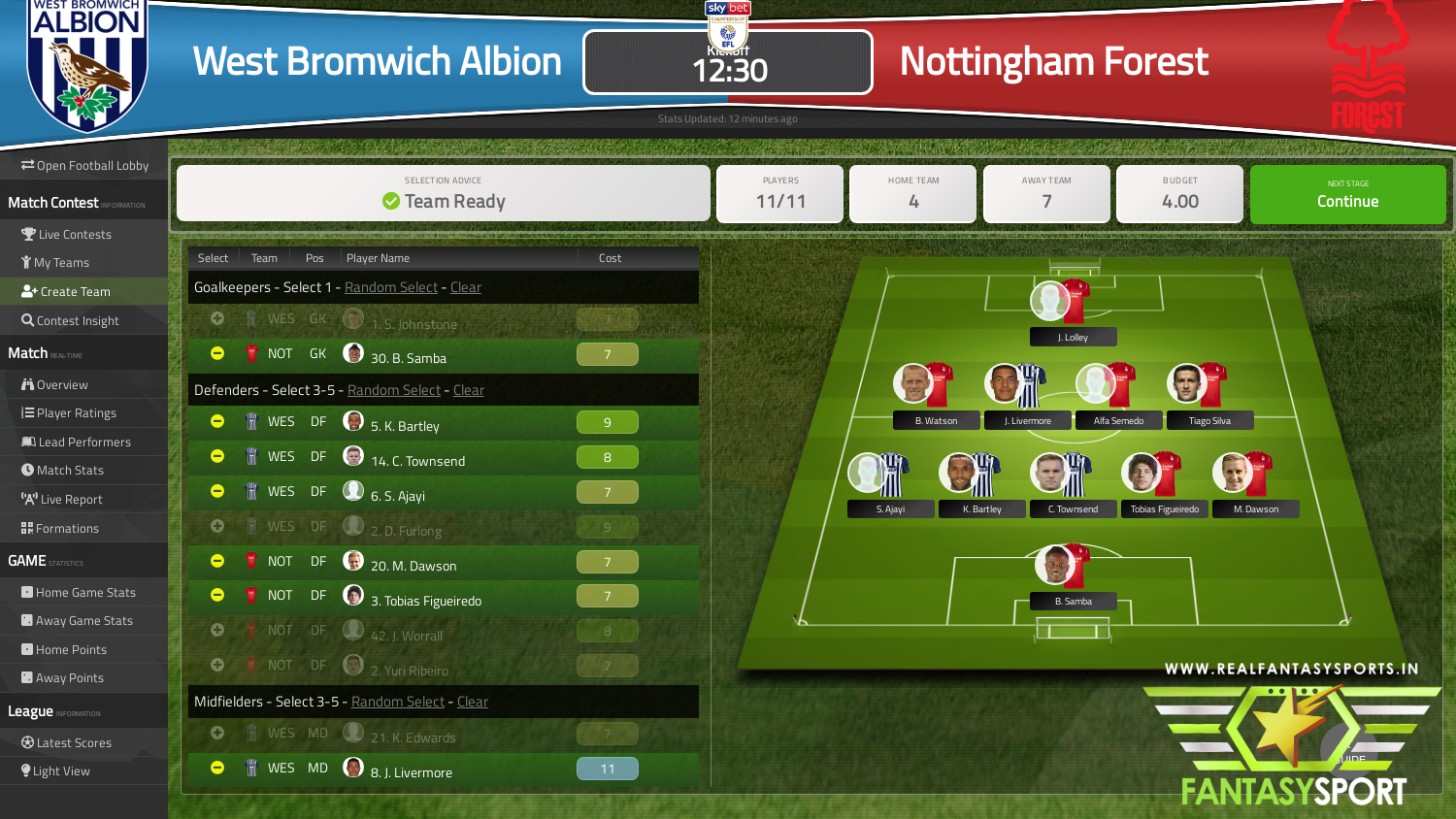 West Bromwich Albion Vs Nottingham Forest